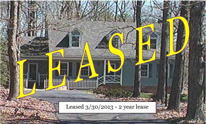Leased in 12 days, for two years!!