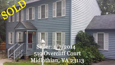 S O L D - Seller: 519 Overcliff Court, Midlothian, VA